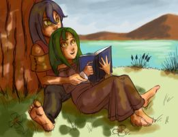 Commission: Quiet Time by Card-Queen