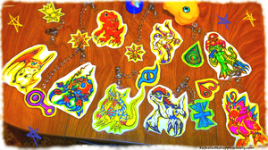 Digimon Adventure Keychains With Crests FOR SALE by KeybladeFoxsquirrel