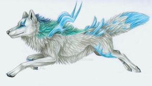 Ice Wolf King by itsmar