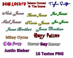 16 textos png by DemiLovatoEditions