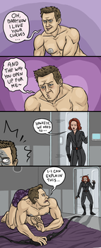 Avengers: Fifty Shades of Hawkeye by sparkyHERO