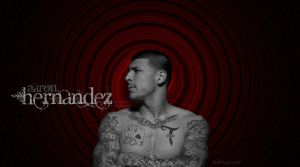 Aaron Hernanez Black And Red Background by FBGNEP