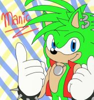Manic the hedgehog by PixilPaws93