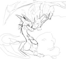 Mina X Videri WIP 1--Rough Sketch by EternalDragoness