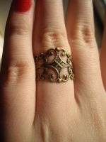 Simple Steampunk Ring. by x-GlassHearts-x