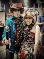 Hatter and Alice at Comic-Con by TheCoffeeFairyChan