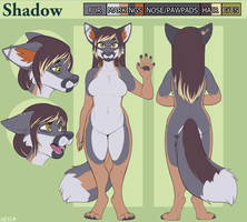 Shadow Reference Sheet - Commission by strawberryneko33