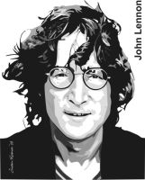 John Lennon vector SAMPLE by justin33k