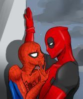 Too Close - SPIDEYPOOL by AviraTheStrange