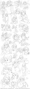 Elerus Sketchpage Commission 24-26 by Saimain