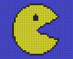 Pacman cross stitch by drsparc