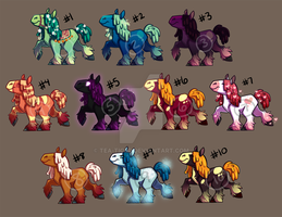 Year of the Horse - Adoptables (OPEN) by tea-tiger