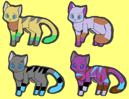 rainbow and killers babies (closed ) by 101horsegirl
