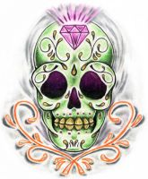 Sugar Skull by zombilly