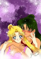 Setsuna X Usagi again by SilverSerenity1983
