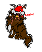 .:Christmasy Atticus:. BAHUMBUG by Wolf-Chalk