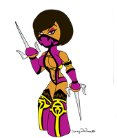 chibi Mileena by DeVanceArt
