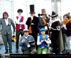 AX 2014: The Gentlemen of Professor Layton by KatyMerry