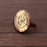 Steampunk ring by NestreJewellery by nestre-jewellery