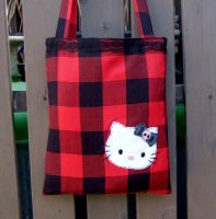 Emo Hello kitty tone bag by yael360