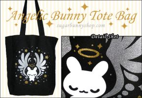 Angelic Bunny Tote Bag by celesse