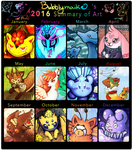 2016 Art Summary by bubblymaika