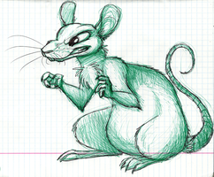 Rat in a notebook by Mimi-fox
