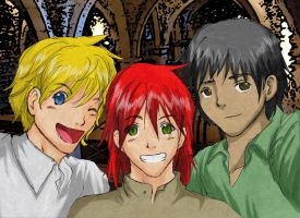 Sim, Kvothe and Will by Ey-chan-Y-Taipu