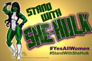 Stand With She Hulk by hoganvibe