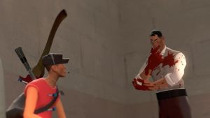 Check up in 2fort... ::Team Fortress 2:: by guywiththesuitcase