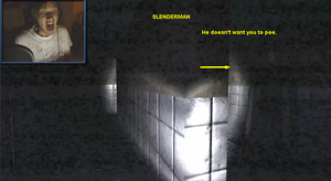 PewDiePie vs. Slender lol moment 2 by DA-AuoraVirus