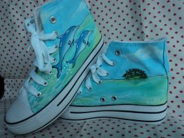 Commission Dolphin Shoes by Owlnuny
