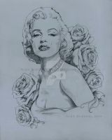 Marilyn Monroe Painting Base by AlexBuechel