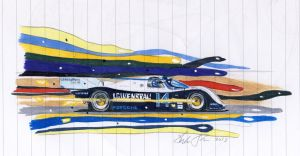 Lowenbrau Porsche 962 sketch by klem