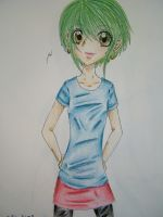 green hair and strange clothes by teddy529