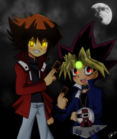 Yugi and Judai by Caro-XY