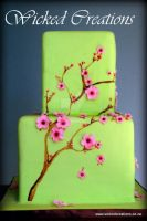 Cherry Blossom Cake by JanJL