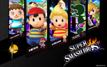 Super Smash Bros Wallpaper (My Current Mains) by brightrai
