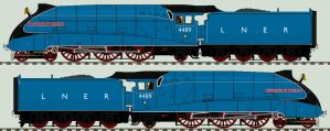 LNER A4 liveries - 4489 'Dominion of Canada' by 2509-Silverlink