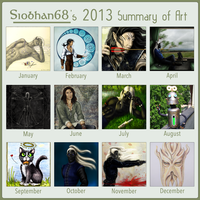 2013 Summary Of Art by Siobhan68