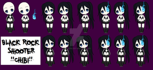 Chibi Black Rock Shooter by Kyt666