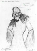 Gasmask Girl Matchstick Man by OrminLange