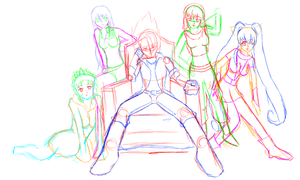 Deviant Character Collab WIP 2 by R64-art