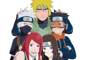 Team Minato + Kushina by Mockingbyrd