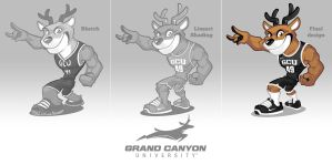 Grand Canyon University mascot design by SOSFactory