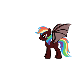 Anti-Rainbow Dash by Winged--Maned--Wolf