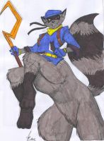 Sly Cooper Taur Comm. by Jaehthebird - Color by dragonheart07