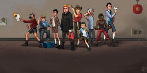 TF2 : young Team Fortress 2 by blueantler