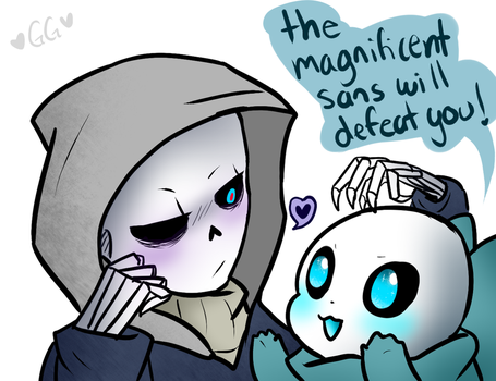 Murder sans x blueberry by 6AgentGG9