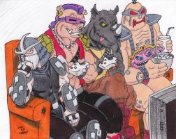 Couch Gag TMNT Bad Guys by Crash2014